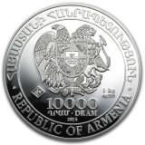 LINGOU - ARGINT 999 - NOAH'S ARK - 10000 DRAM - Rep.of Armenia - 1 KG -3.2lei/gr