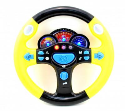 Volan de jucarie pentru copii, cu sunete si lumini ELE1109LC foto