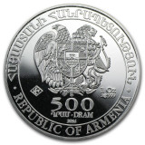LINGOU - ARGINT 999 - NOAH'S ARK - Moneda - 500 DRAM -Rep.of Armenia - 31.1 gr.!