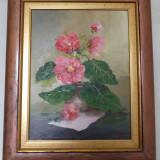 Tablou flori de Oleg Vulpe, ulei pe panza, 34.5 x 26.5 cm, Impresionism