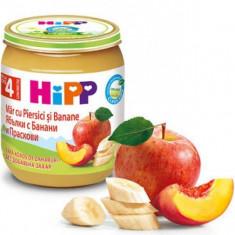Piure Bio pentru bebelusi cu mere banane si piersici 125g HiPP