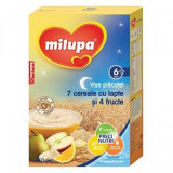 Milupa Vise Placute 7 Cereale cu lapte si 4 fructe 250g 6+ luni