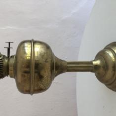 Lampa veche cu petrol,englezeasca,din alama