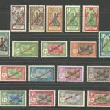 INDIA - ( COLONIE  FRANCEZA )  SUPRATIPARE  1941 SERIE COMPLETA  MNH, Nestampilat