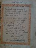 Dedicatie Cincinat Pavelescu, data pe o pagina din cartea sa de Epigrame, 1929