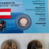 Austria set monetarie ,1+2+5+10+20+50 Eurocenti+1+2 EURO + medalie argint Wien, Europa