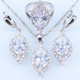 Set bijuterii din argint cu piatra din Opal