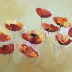 Tablou ulei (30/60 cm- MACI, Flori, Impresionism