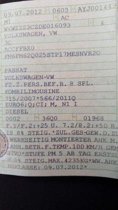 Vw Passat Euro 6