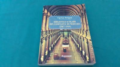 BIBLIOTECI ȘCOLARE DIN COMITATUL HUNEDOARA*1867-1918/ CIPRIAN DRĂGAN/ 2013 foto