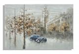 Tablou pictat manual London, 120x80 cm