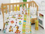 Lenjerie pat copii, Alte dimensiuni, Multicolor, 3 Piese