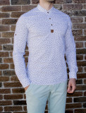 Camasa elastica ancore - camasa slim fit - camasa alba - camasa barbati, L, M, XL, Maneca lunga, Alb