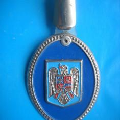 HOPCT ROMANIA INSIGNA MILITARA POLITIE -MINIST INTERNE-GIGANTICA-RARA D=55 MM