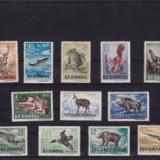 1956 Romania,LP 404-Vanatoarea, dantelat, Fauna, Nestampilat