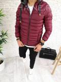 Geaca de iarna pentru barbati grena - PREMIUM- model 2018 - A2612, L, M, S, XL, XXL