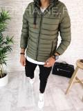 Geaca de iarna pentru barbati - KAKI - PREMIUM- model 2018 - A2613, L, M, S, XL, XXL