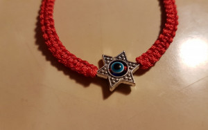Bratara fashion unisex  handmade  Blue Turkish  Eye  Red