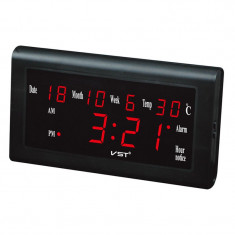 Ceas de perete digital VST, 795 W, afisaj LED