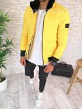 Geaca de iarna pentru barbati - galbena - PREMIUM- model 2018 - A2603 M4-4, L, M, S, XL