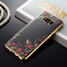 Husa Samsung Galaxy S8 Plus - Luxury Flowers Gold