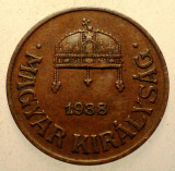2.823 UNGARIA 1 FILLER 1938, Europa, Bronz