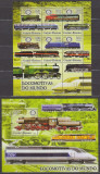 DB Guinea Bissau Locomotivele lumii  MS SS MNH, Nestampilat