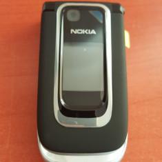 Telefon Nokia 6131 original / negru / impecabil / necodat capac piele, Gri, Nu se aplica, Neblocat