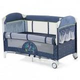 Patut pliabil Copii cu Laterala Culisanta Merida - Blue
