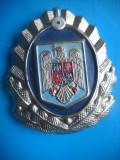 HOPCT ROMANIA INSIGNA MILITARA CUC/EMBLEMA MINIST INTERNE-GIGANTICA-RARA D=60 MM
