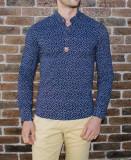 Camasa elastica ancore - camasa slim fit - camasa bleumarin - camasa barbati