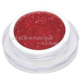 Gel UV colorat - roșu-închis cu sclipici 5ml foto
