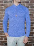 Camasa elastica ancore - camasa slim fit - camasa albastra - camasa barbati