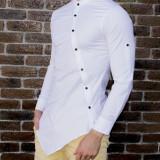 Camasa asimetrica barbat - camasa alba camasa barbat camasa slim camasa contrast