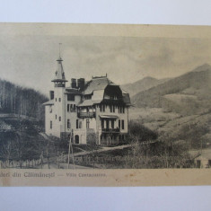 Carte postala Calimanesti-Vila Cantacuzino,circulata 1907, Printata