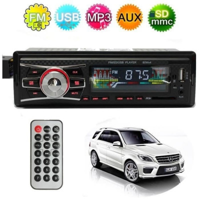 Casetofon Auto USB MP3 player Radio Telefon Telecomanda foto