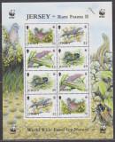 DB WWF Jersey  Pasari Insecte Soparle MS MNH, Nestampilat