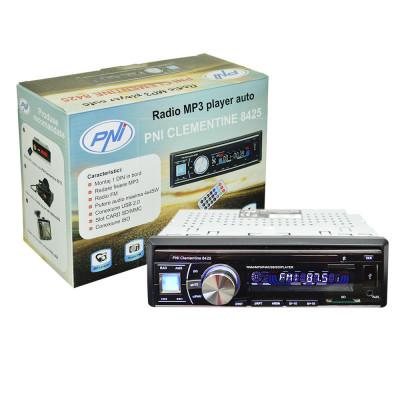 Resigilat : Radio MP3 player auto PNI Clementine 8425 4x45w 1 DIN cu SD, USB, AUX, foto