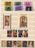 BULGARIA - PICTURA RELIGIOASA. ICOANE, COLITE SI SERII STAMPILATE, L34-35, Stampilat