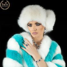 Caciula Husky - Alb