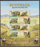 DB WWF Botswana Pisica cu picioare negre MS MNH, Nestampilat