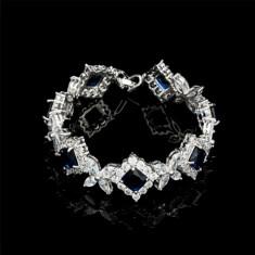 Bratara Alessandra Platinum & Blue