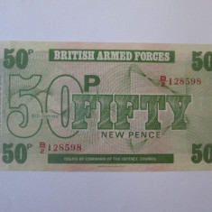 British Armed Forces 50 New Pence 1972 UNC