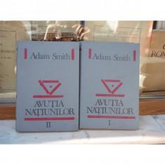 Avutia natiunilor 2 volume , Adam Smith , 1992