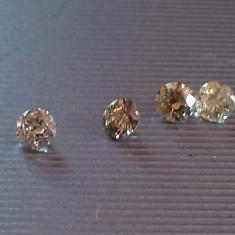 Lot diamante 4 bucati 0.34 ct total