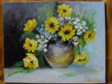 Vas cu flori 3-pictura ulei pe panza;