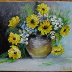 Vas cu flori 3-pictura ulei pe panza;, Altul