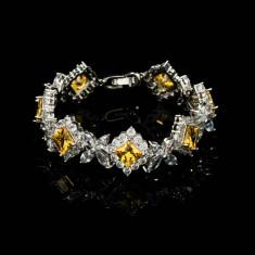 Bratara Alessandra Platinum & Yellow