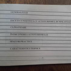 CARTE TEHNICA DACIA  = INSTRUCTIUNI DE FOLOSIRE, CCA 1995