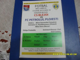 Program       CS  Blejoi   -  Petrolul  Pl.